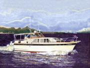 Waterfront Originals - 1965 Classic Chris Craft Terific by Jack Pumphrey