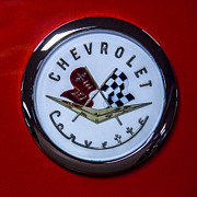 Flag - 1965 Corvette Sting Ray Hood Emblem by Ben and Raisa Gertsberg