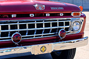 Fire Trucks Prints - 1965 Ford American LaFrance Fire Truck Print by Jill Reger