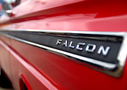 60s Ford Falcon Prints - 1965 Ford Falcon Name Plate Print by Brian Harig