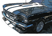 Sheats Framed Prints - 1965 Ford Mustang GT Framed Print by Samuel Sheats
