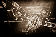Steering Prints - 1965 Ford Mustang Steering Wheel Emblem Print by Jill Reger