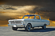 Family Car Posters - 1965 Ford Ranchero Poster by Dave Koontz