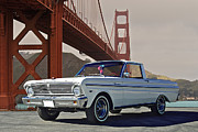 Family Car Posters - 1965 Ford Ranchero V Poster by Dave Koontz