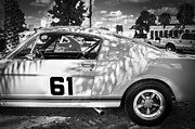 1965 Mustang Framed Prints - 1965 Ford Shelby Mustang BW Framed Print by Rich Franco
