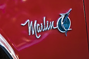 Historic Vehicle Prints - 1965 Rambler Marlin Emblem Print by Jill Reger