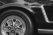 Prototype Prints - 1965 Shelby prototype Ford Mustang Wheel Emblem Print by Jill Reger