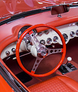 Sting Digital Art - 1965 Sting Ray Corvette Cabin And Steering Wheel by Ben and Raisa Gertsberg