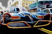 Bat Mobile Framed Prints - 1966 Batmobile 16 Framed Print by Cindy Nunn