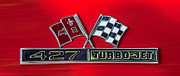 Jet Photo Art - 1966 Chevrolet Corvette 427 Turbo-Jet Emblem by Jill Reger