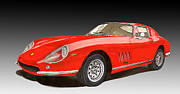 Automobile Framed Prints Painting Framed Prints - 1966 Ferrari 275 G T B 4 Framed Print by Jack Pumphrey
