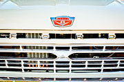 Ford Pickup Framed Prints - 1966 Ford F100 Pickup Truck Grille Emblem Framed Print by Jill Reger
