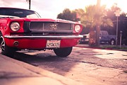 Hot Car Prints - 1966 Ford Mustang Convertible Print by Sanely Great