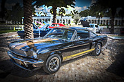 Mustang Gt350 Framed Prints - 1966 Ford Shelby Mustang Hertz Edition  Framed Print by Rich Franco