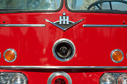 Truck Photo Posters - 1966 International Harvester Pumping Ladder Fire Truck - 549 Ford Gas Motor Poster by Jill Reger