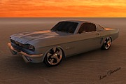 Louis Ferreira Art Digital Art - 1966 Mustang Fastback by Louis Ferreira