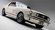 Wheels Prints - 1966 Mustang GT Print by Sanely Great