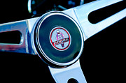 Steering Posters - 1966 Shelby Cobra 427 Steering Wheel Emblem Poster by Jill Reger