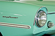 Light Aqua Framed Prints - 1967 Amphicar Model 770 Head Light Framed Print by Jill Reger