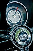 1967 Photos - 1967 Chevrolet Camaro  SS Steering Wheel Emblem Emblem by Jill Reger