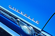 Chevelle Photos - 1967 Chevrolet Chevelle Hood Emblem by Jill Reger