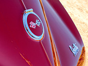 Rear Posters - 1967 Chevrolet Corvette Rear Emblems Poster by Jill Reger