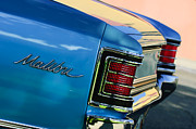 Chevelle Framed Prints - 1967 Chevrolet Malibu Taillight Emblem Framed Print by Jill Reger