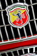 Pebble Beach 2011 Prints - 1967 Fiat Abarth 1000 OTR Emblem Print by Jill Reger