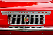 Car Show Framed Prints - 1967 Fiat Abarth 1000 OTR Grille Framed Print by Jill Reger