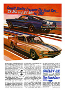 Cave Digital Art - 1967 Ford Mustang Shelby GT350 and GT500 by Digital Repro Depot