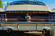 1967 Framed Prints - 1967 Ford Mustang Taillight Emblem Framed Print by Jill Reger