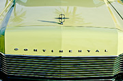 Automobiles Prints - 1967 Lincoln Continental Grille Emblem - Hood Ornament Print by Jill Reger