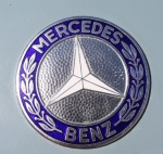 John Telfer Photography Prints - 1967 Mercedes Benz Logo Print by John Telfer