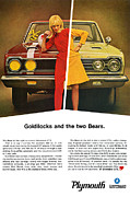 Goldilocks Posters - 1967 Plymouth GTX - Goldilocks and the two Bears. Poster by Digital Repro Depot