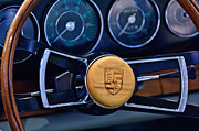Classic Porsche 911 Photos - 1967 Porsche 911 Coupe Steering Wheel Emblem by Jill Reger