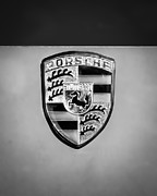 Race Car Photo Prints - 1967 Porsche 911 Factory Race Car Emblem Print by Jill Reger