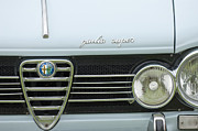 Shows Photo Framed Prints - 1968 Alfa Romeo Giulia Super Grille Framed Print by Jill Reger