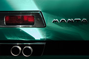 1968 Prints - 1968 Bizzarrini Manta Taillight Emblem Print by Jill Reger