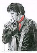 Presley Painting Originals - 1968 Black Shirt by Rob De Vries