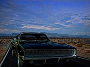 Car Chase Art - 1968 Dodge Charger  by Tim McCullough