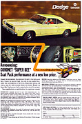 Superbee Prints - 1968 Dodge Coronet Super Bee Print by Digital Repro Depot