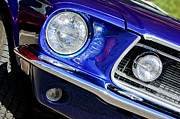 Cobra Photo Posters - 1968 Ford Mustang Cobra GT 350 Head Light Poster by Jill Reger