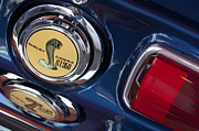 Muscle Car Photos - 1968 Ford Mustang - Shelby Cobra GT 350 Taillight and Gas Cap by Jill Reger