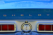 Photographs Framed Prints - 1968 Ford Shelby GT500 KR Convertible Rear Emblems Framed Print by Jill Reger