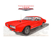 Built Painting Prints - 1968 Pontiac G T O  Print by Jack Pumphrey
