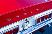Taillights Prints - 1968 Shelby Cobra GT Taillights and Emblem Print by Jill Reger