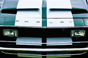 Muscle Cars Framed Prints - 1968 Shelby GT500 Fastback Grille Emblem Framed Print by Jill Reger