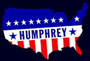 Left-wing Paintings - 1968 Vote Humphrey for President by Historic Image