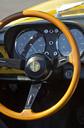 1969 Photos - 1969 Alfa Romeo 1750 Spider Steering Wheel by Jill Reger