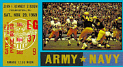Sports Memorabilia Posters - 1969 Army Navy Ticket Poster by David Patterson